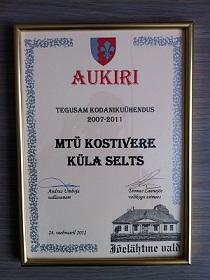 Jõelähtme vald tunnustas Kostivere Küla Seltsi!