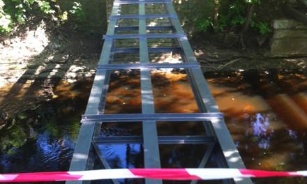 Raamatukogu kõrval olev puust sild saab välja vahetatud
