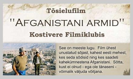"""Tõsielufilm """"Afganistani armid"""" Kostivere Filmiklubis"""