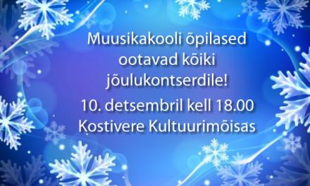 Muusikakooli lapsed kutsuvad jõulukontserdile!