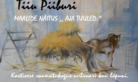Tiiu Piiburi maalide näitus Kostivere Raamatukogus