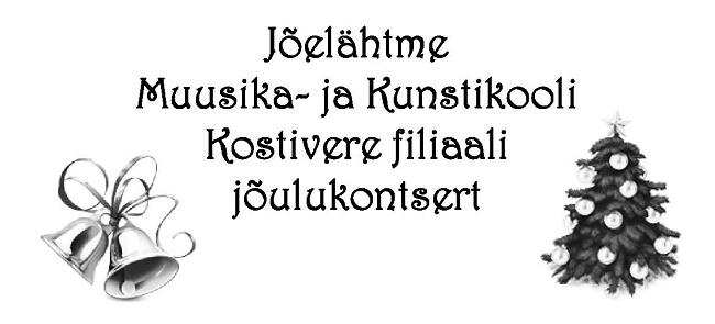 Jõelähtme Muusika- ja Kunstikooli Kostivere filiaali jõulukontsert