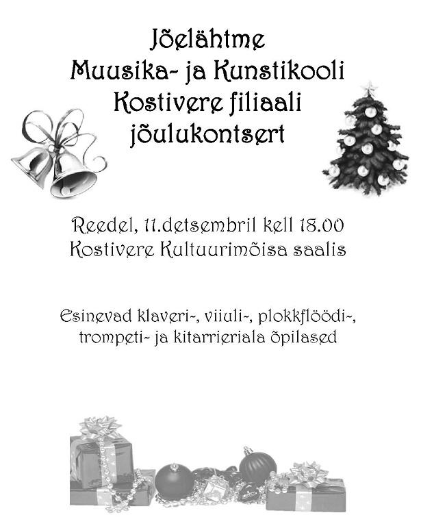 Kostivere jõulukontsert 2015