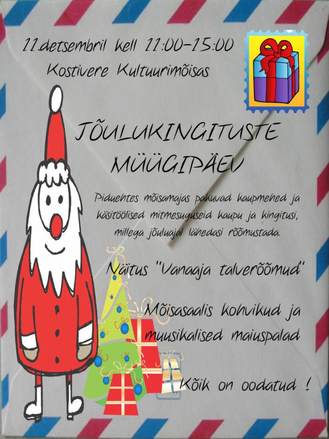 Jõulukingituste müügipäev @ Kostivere Kultuurimõis