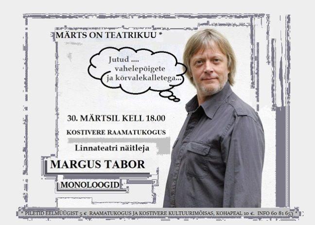 """Margus Tabor """"Monoloogid"""" @ Kostivere raamatukogu"""