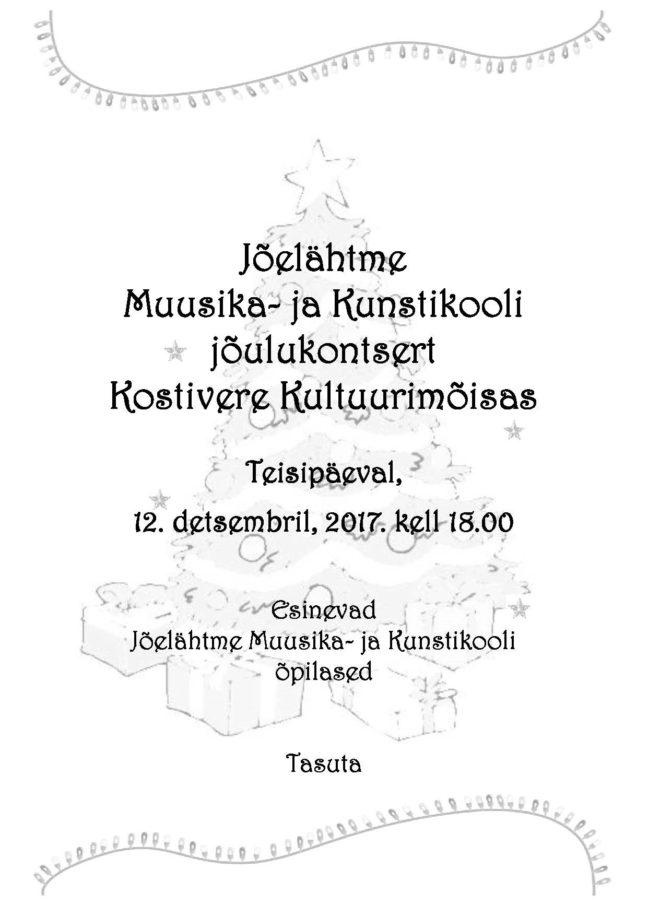 JMK jõulukontsert @ Kostivere Kultuurimõis