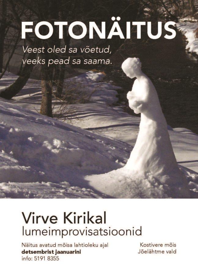 Lumeskulptuuride näitus @ Kostivere Kultuurimõis