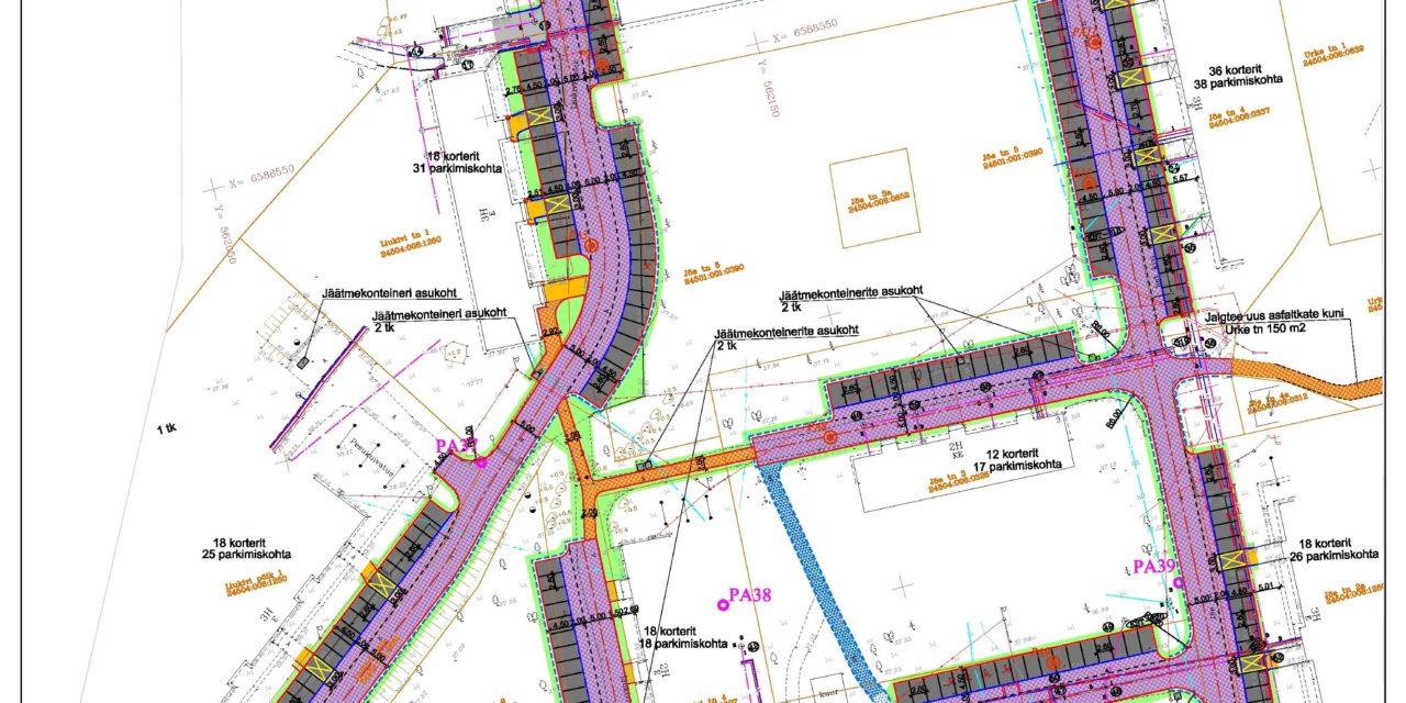 Aleviku kortermajade teede paranduse ja parkimiskohtade rajamise eskiisprojekt