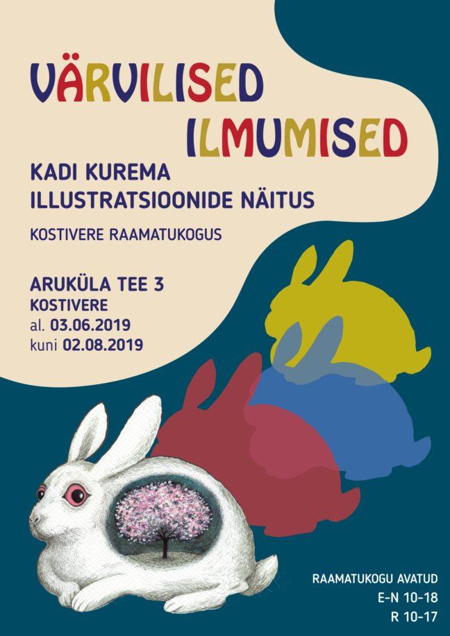 """Näitus """"Värvilised ilmumised"""" @ Kostivere raamatukogu"""